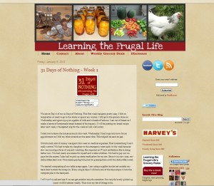 learning the frugal life screen shot