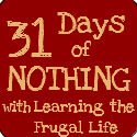 31 days of nothing
