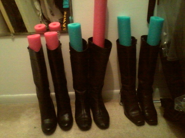 Boot Storage With Pool Noodles |