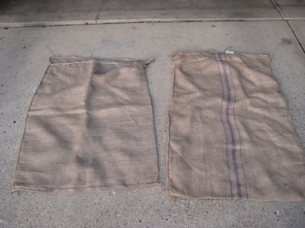 Free burlap coffee sacks