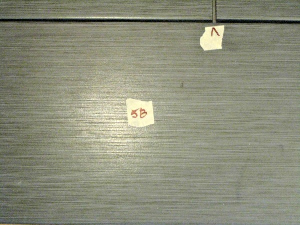 tile marked and numbered